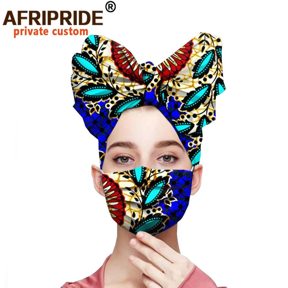 أغطية رأس من القطن الخالص مع طباعة أنقرة ، وغطاء رأس أفريقي ، وشمع الباتيك المطبوع ، A20H001B