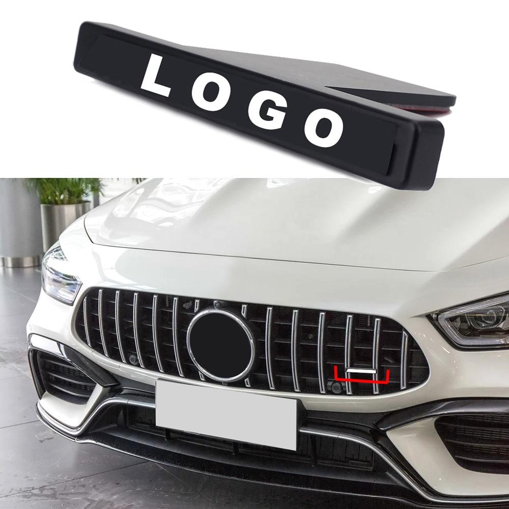 Para la etiqueta de la parrilla delantera del logotipo de la insignia AMG para Mercedes Benz GLB GLC GLS CLA GT G A S Class Car Tuning Net decoración de la red 3D