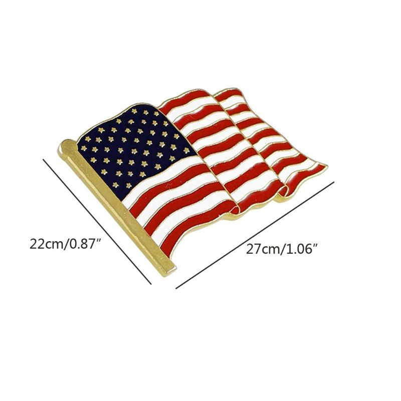 5 pçs acenando bandeira americana esmalte lapela pino broche patriótico orgulhosamente jóias a0nf