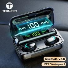 TWS Bluetooth 5,0 наушники 9D стерео беспроводные наушники мини спортивные водонепроницаемые  блютуз наушники Беспроводная гарнитура с микрофоном для мобильного телефона