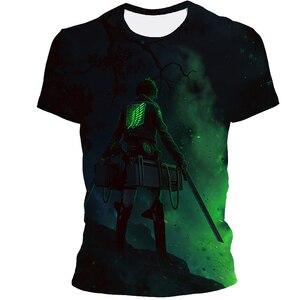 The latest anime cartoon men's summer short-sleeved polyester horror fantasy fun fashion avant-garde street 3D printing T-shirt