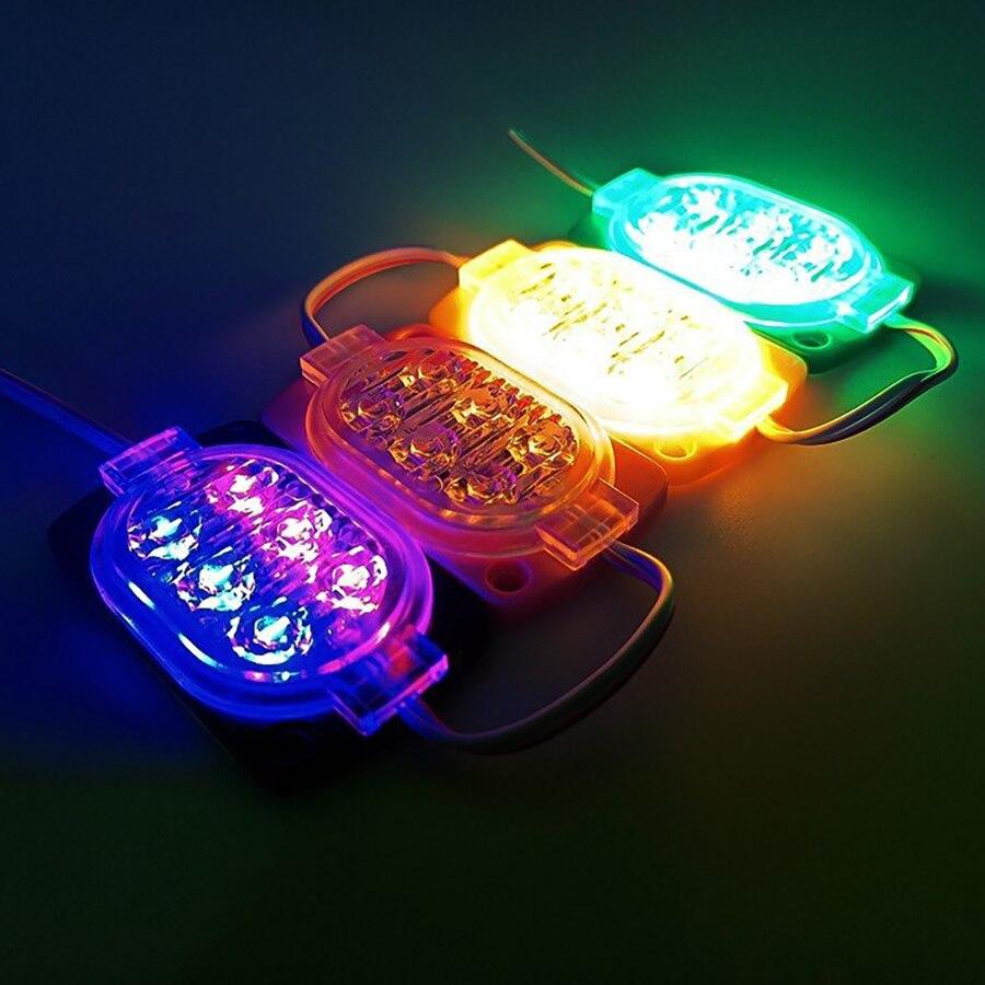 200PCS Strobe Falshing RGB 6 Chip 12V 2835 SMD LED Module Advertising Horse Racing Sign Lamp Outdoor Injection Light Source enlarge