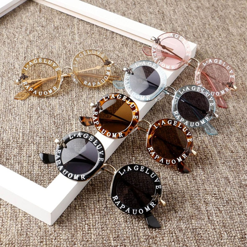2020 New Infant Kids Baby Girls Boys Fashion Sunglasses Letter Solid Sun Glasses 12 Colors Outdoor B