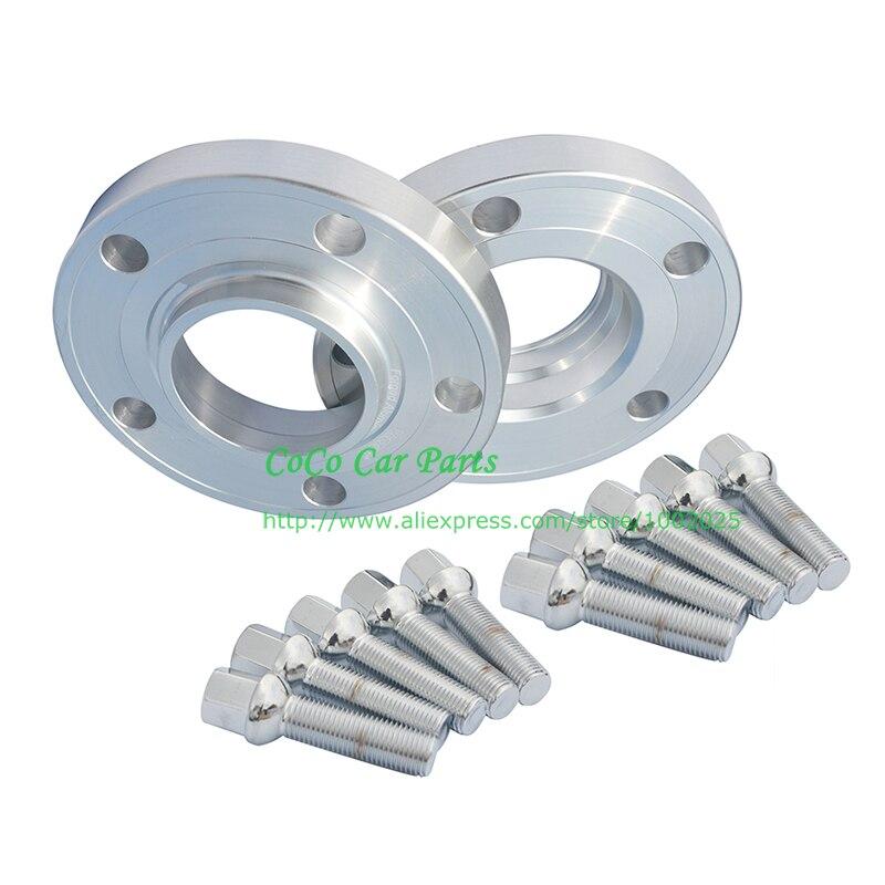 2 uds 15MM PCD 5x112-66.6 Hub Centric + 10 Uds pernos espaciador de rueda de coche para Mercedes Benz e-class AMG, CLA, CLK, GLK, C200, E200, E300