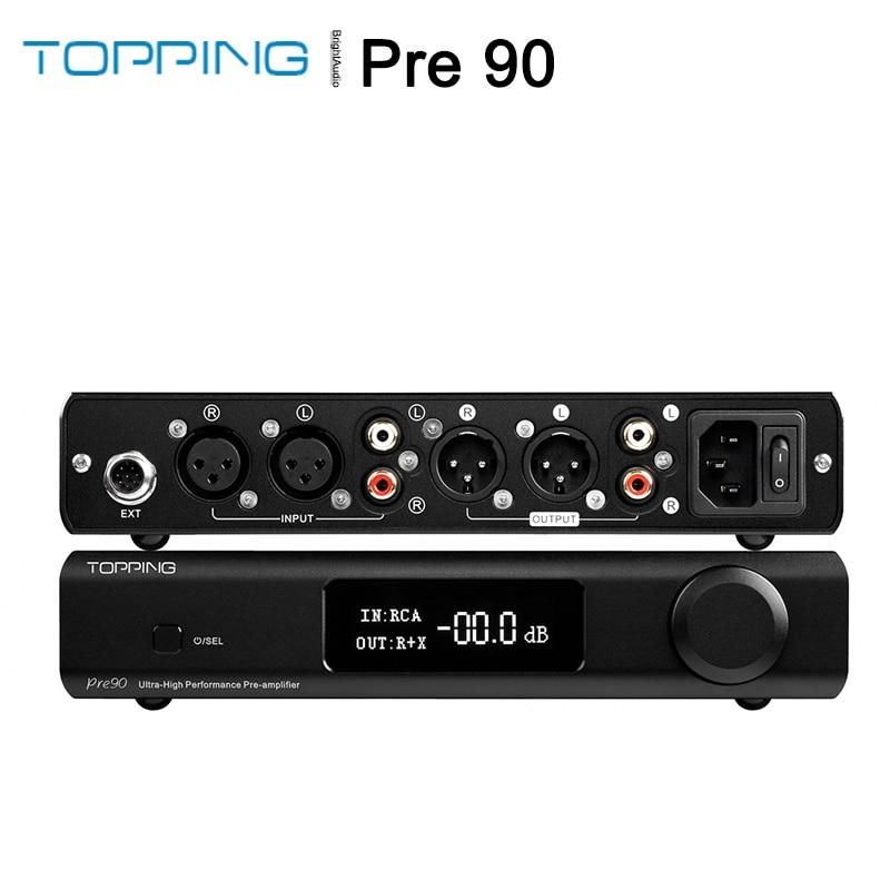 TOPPING Pre90-مضخم صوت HiFi متوازن بالكامل ، موسع إدخال pand90 ، وحدات NFCA فائقة الارتفاع ، خرج AMP RCA XLR