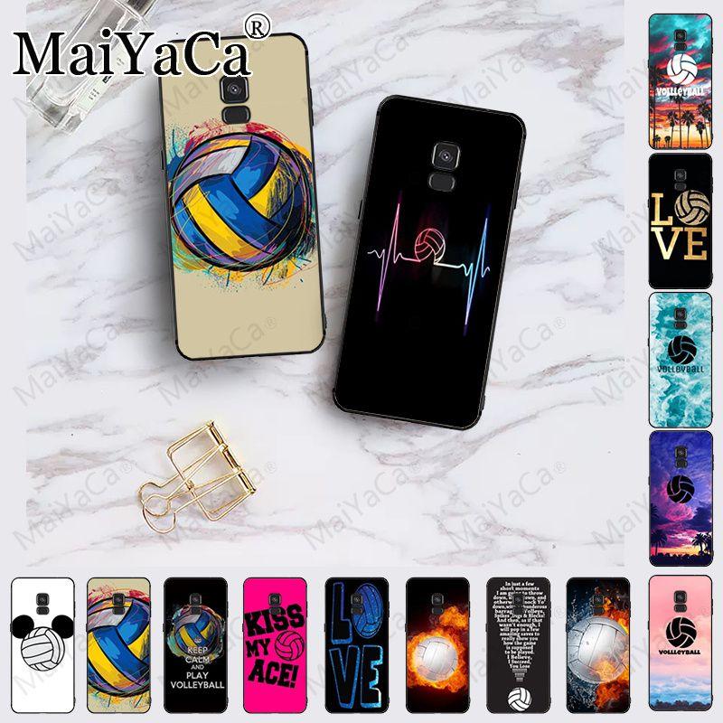 Love voleibol sports, recién llegado, funda negra para teléfono móvil para samsung Galaxy A10 A8 A6 A10s A9 A30 A50 A70, funda