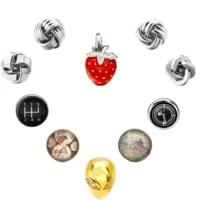 fashion wedding cufflinks red strawberrytwistflowersquareearth cufflink jewish sign jewelry handmade glass dome mens cuff