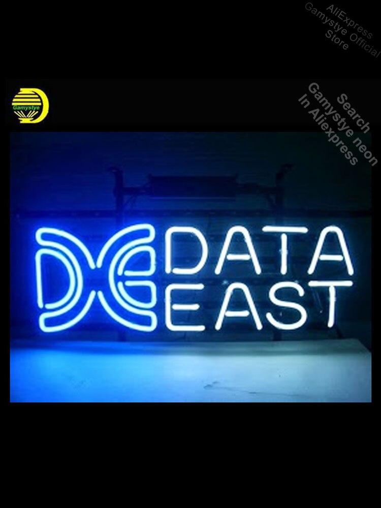 مصباح نيون ، علامة البيانات ، شعار Eas ، صناعة يدوية ، لافتة إعلانية ، إضاءة غرفة الاستجمام