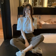 Style Light Mature Western Style Business Suit Women's 2021 Summer New Small Tall Cropped Pants Two-