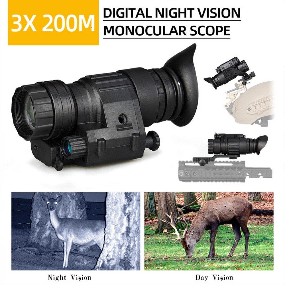 El nuevo PV3X32 3x visión nocturna infrarroja montada en la cabeza visión nocturna Digital al aire libre día y noche