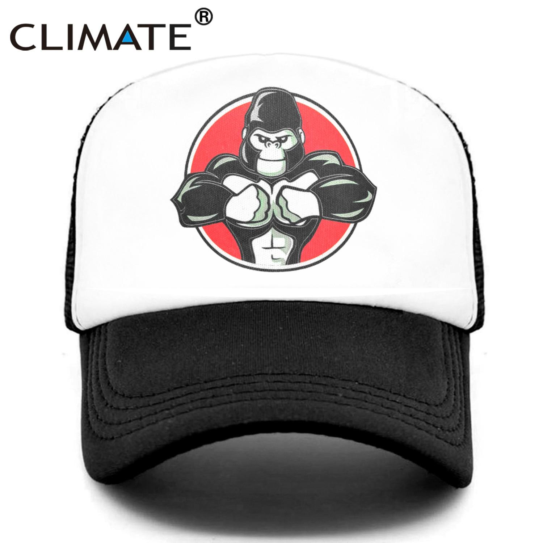 Gorro de Animal resistente CLIMATE Cool para hombre, gorro Muscular de gorila, chimpancé, Fitness, deporte, músculo, hombre, gimnasio, Fans, gorro de malla de camionero, culturismo corporal