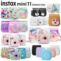 Новый чехол для камеры Fujifilm Instax Mini 11, качественная мягкая защитная сумка для переноски из искусственной кожи с плечевым ремнем