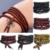 9 color prayer beads mens womens bracelets wooden prayer beads bracelet stretch multi layer lovers bracelet necklace