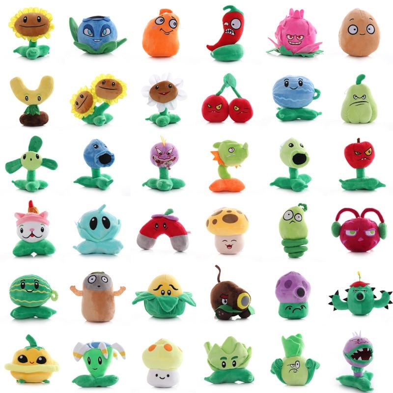 38 estilos de plantas vs Zombies juguetes de Peluche 13-20cm plantas de PVZ Peashooter Peluche juguete de Peluche muñeco de Peluche suave juguetes de Peluche regalos para niños