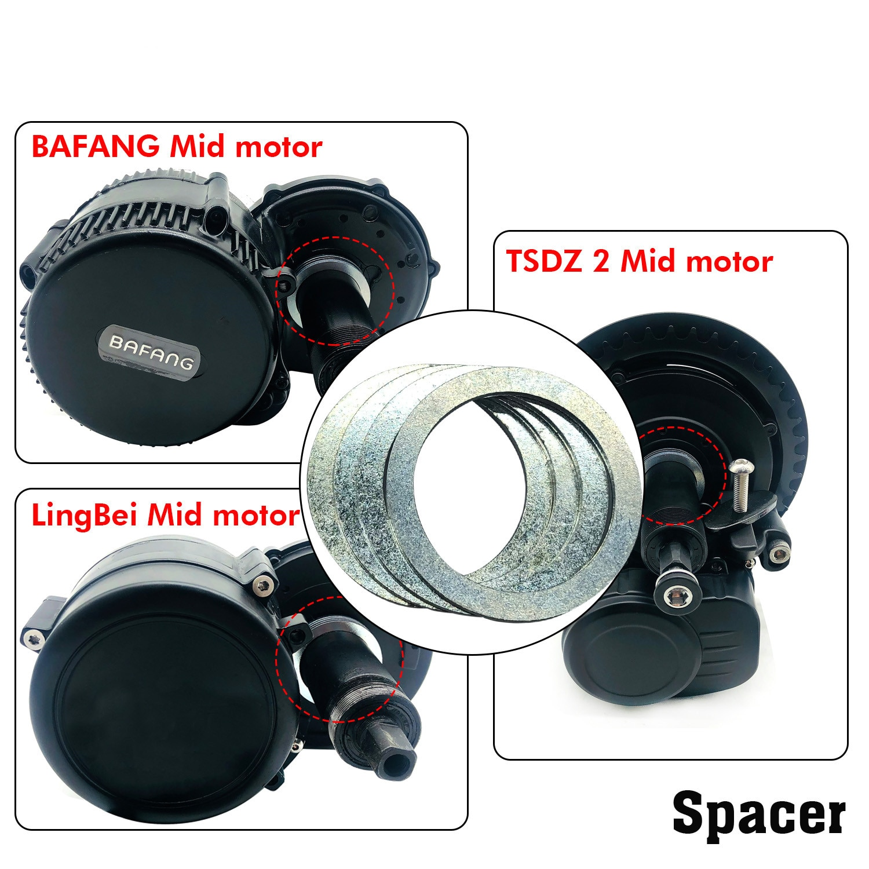 BOLLFIT Spacer 4 Stück 9,6mm Ebike Conversion Teile Für Bafang BBS01 BBSHD TSDZ 2 Lingbei Mitte Motor Boden Halterung fitting