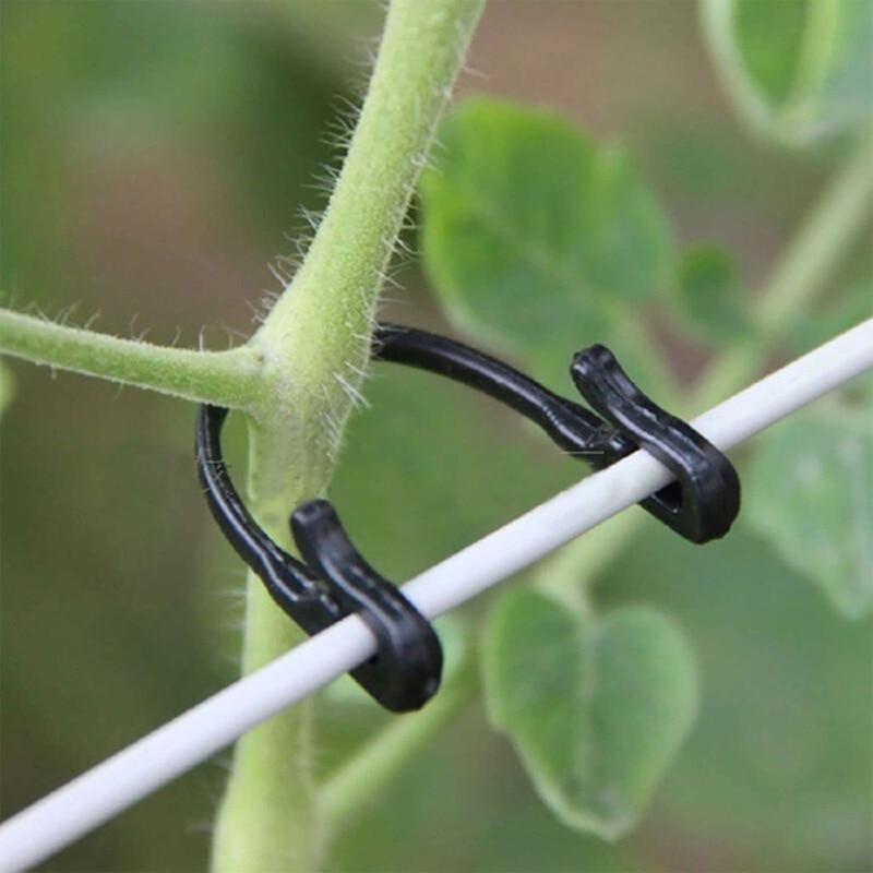 Пластиковые зажимы для фиксации растений, зажимы для поддержки томатов, стойка для винограда, сетчатые крепежи, садовая сельскохозяйственн...