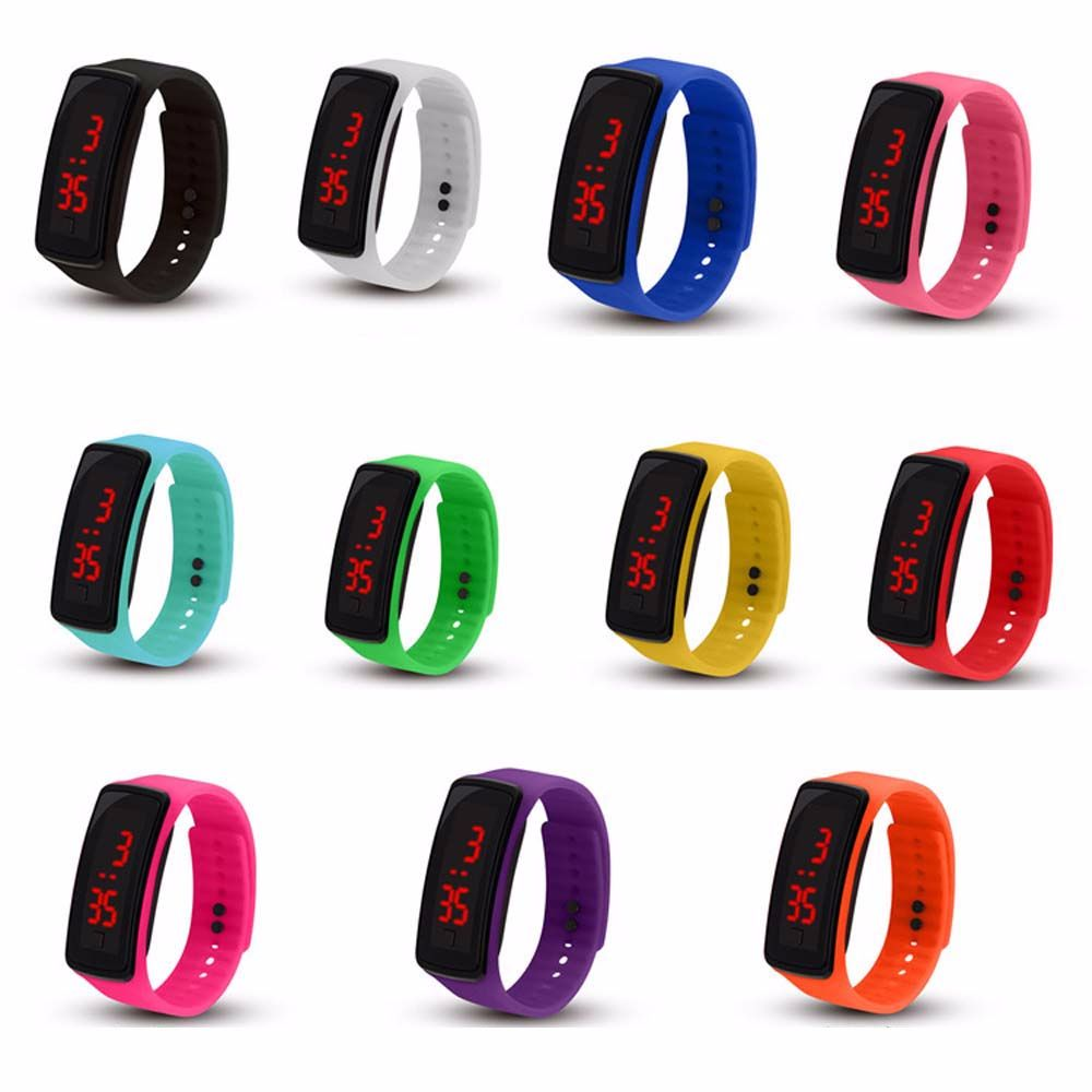 Children's Electronic Watch LED Silicone LED Electronic Watch Bracelet Not Waterproof lovers'