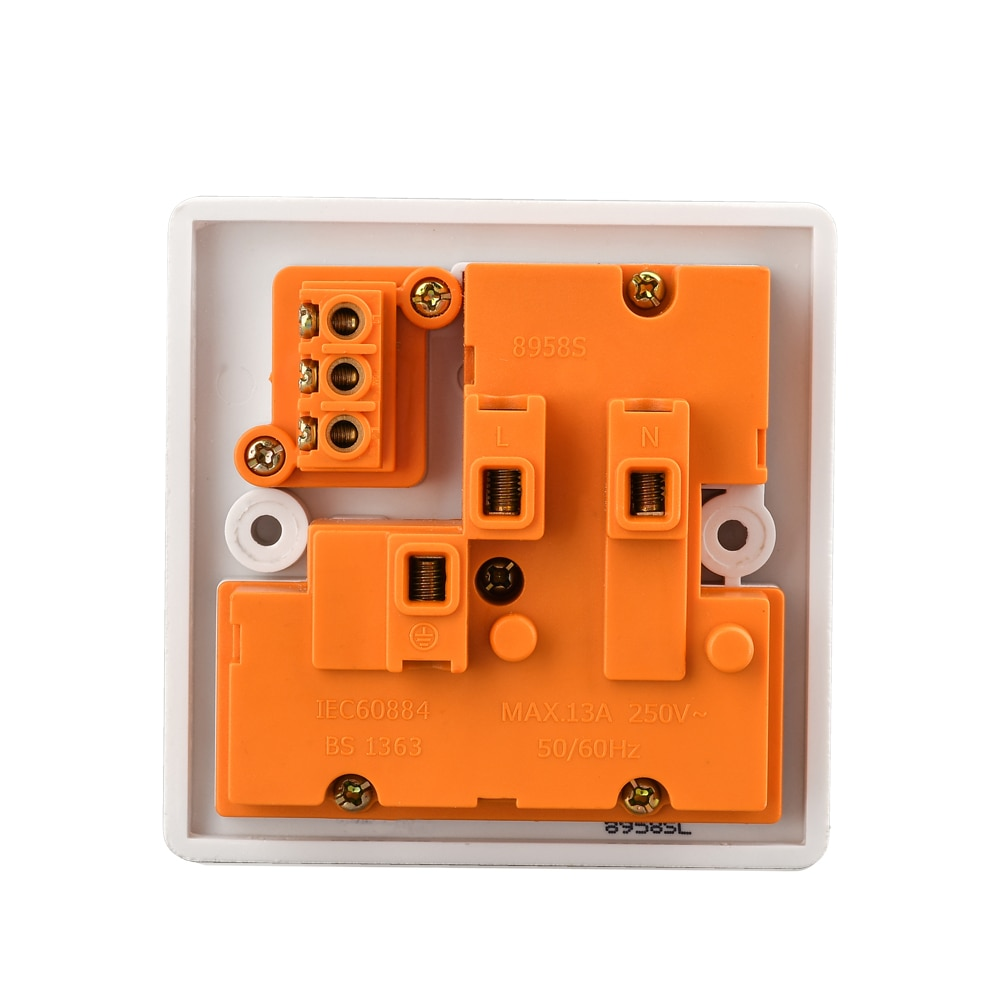 Universal electric power socket wall  panel outlet wall charger bakelite switched 13A 220 250V single gang 8 pin on sale