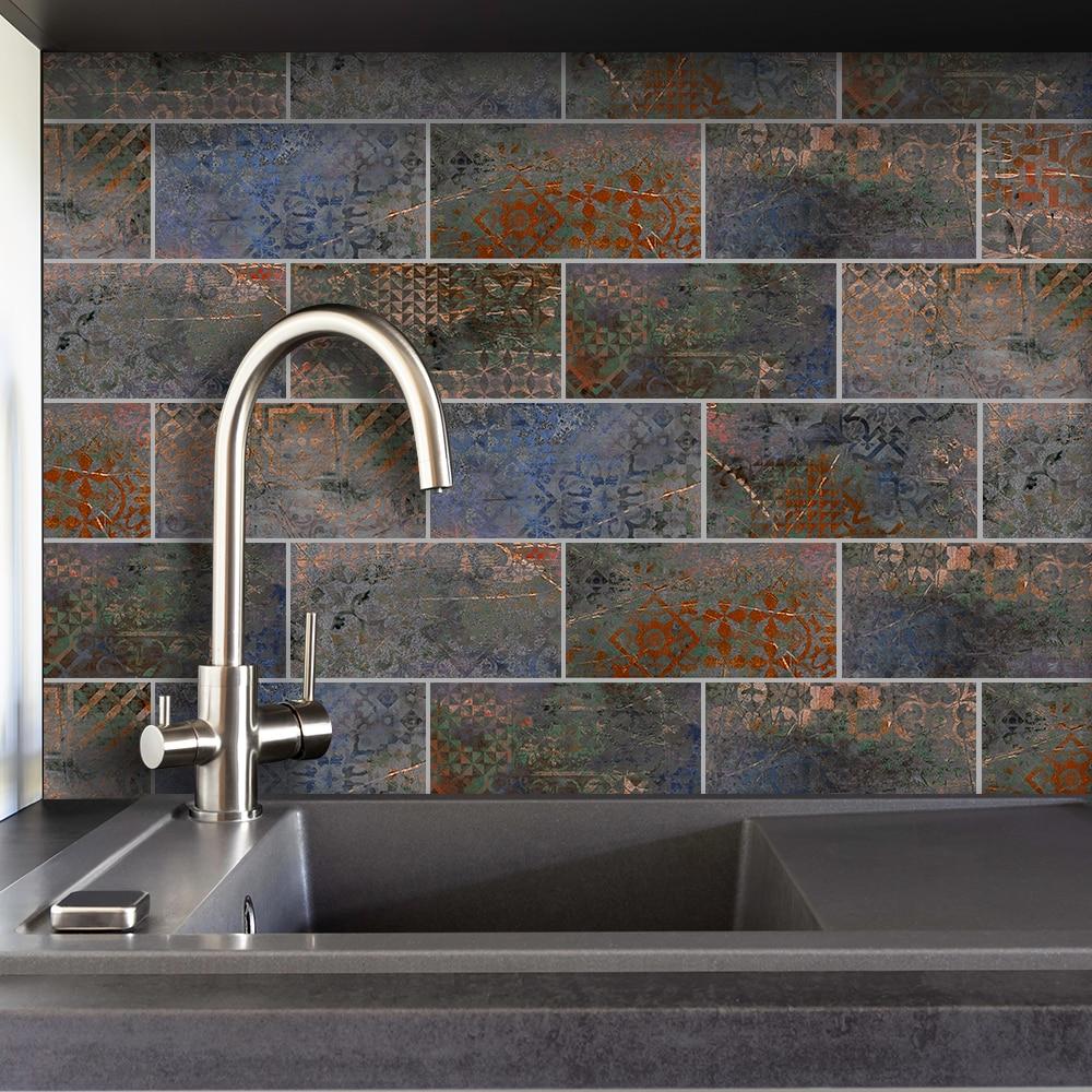 Autocollants muraux 3D panneau mural   Décor de chambre à coucher maison, papier peint autocollant étanche pour salon cuisine toile de fond télévision D30