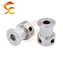 3D Printers Parts printer pulley GT2 20 teeth bore 6mm 6.35mm 8mm 2GT 20teeth timing pulley fit for GT2 belt width 10mm