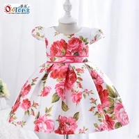 outong baby girl spanish dresses flower print dress for 1 year kids clothes girls short sleeve casual summer children clothing