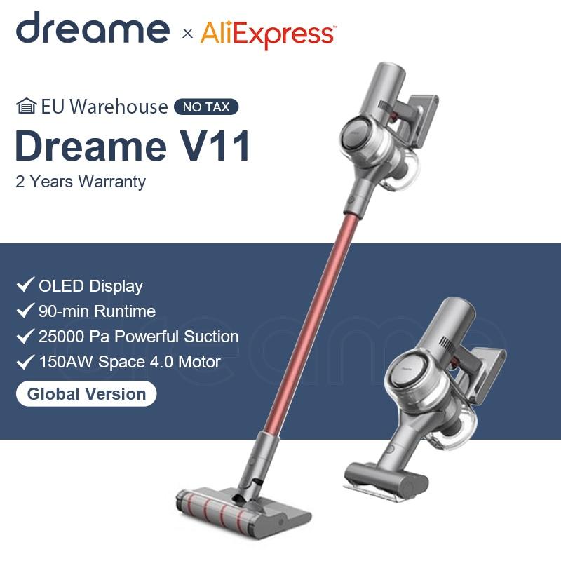 Dreame – aspirateur à main sans fil V11, affichage OLED, 25kpa, collecteur de poussière tout-en-un, balayage de tapis de maison