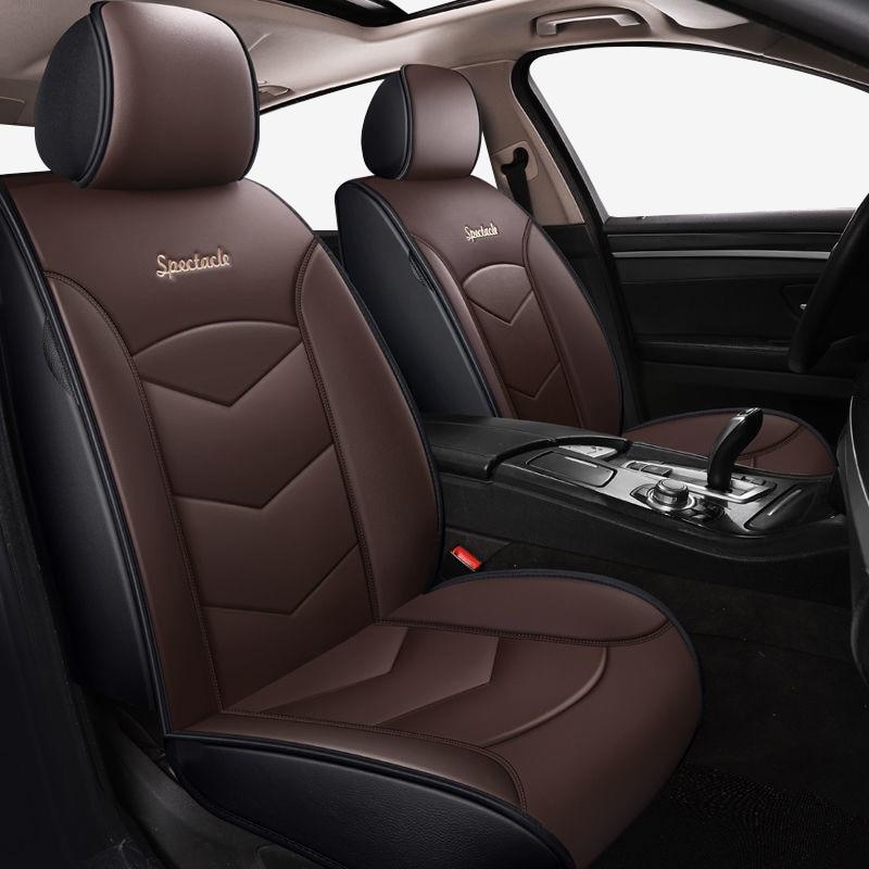 Cinza de Couro tampas de assento Do Carro Para volvo xc90 s80 s60 v40 c30 s40 v50 v60 v70 xc40 V90 acessórios