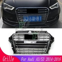 car modified front grille for audi a3s3 2014 2015 2016 auto parts front bumper racing grill central middle grille