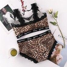 CMENIN Leopard Bra Set Push Up Seamless Embroidery Lace Sexy Lingerie Plus Size Women Transparent Underwear Set Bras Tops B0183