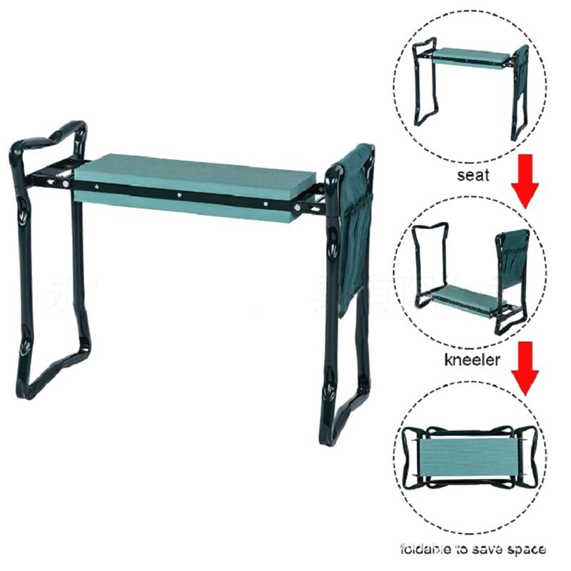 Складной садовый наколенник из нержавеющей стали, садовый стул с коленями и сумкой для хранения, садовый складной стул