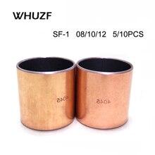 5/10PCS Inner Diameter 8 10 12 14mm SF-1 Self-lubricating Bearing Oilless Bushing Sleeve Heigh 5-20mm
