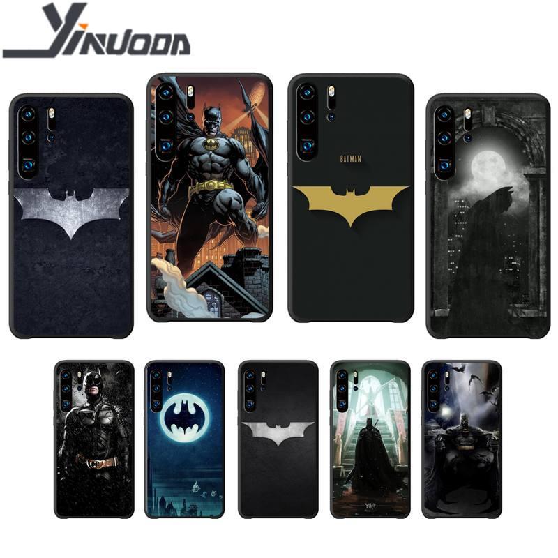 Ruicaica Batman Silikon schwarz fall abdeckung für Huawei P9 lite 2016 2017 P 10 P20 PRO P30 P40 lite P smart 2019 coque