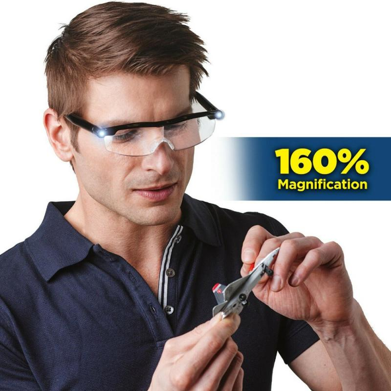 1.6x lupa Mighty sight gafas de luz LED aptas para leer presbicia lupa LED gafas luminosas