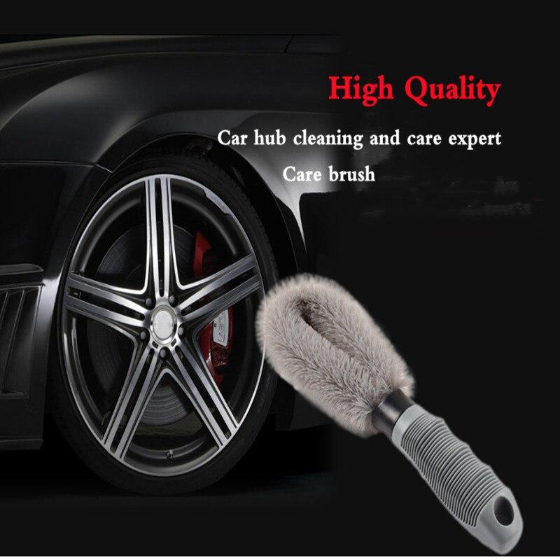 Щетка для чистки автомобильных колес, ручная щетка серого цвета для мойки автомобильных колес, грузовиков, удобные принадлежности для убор...
