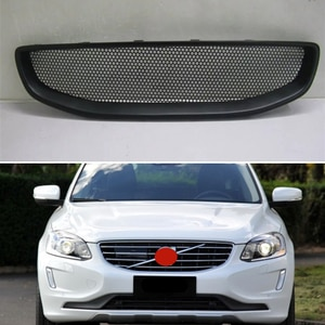 Use For Volvo Xc60 2015 2016 Year Carbon Fibre Refitt Front Center Racing Grille Cover Accessorie Body Kit Zonsuve