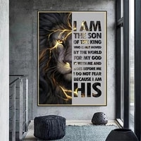 inspirational animal lions canvas paintings motivational quotes posters prints wall art picture for room home decor wall cuadros