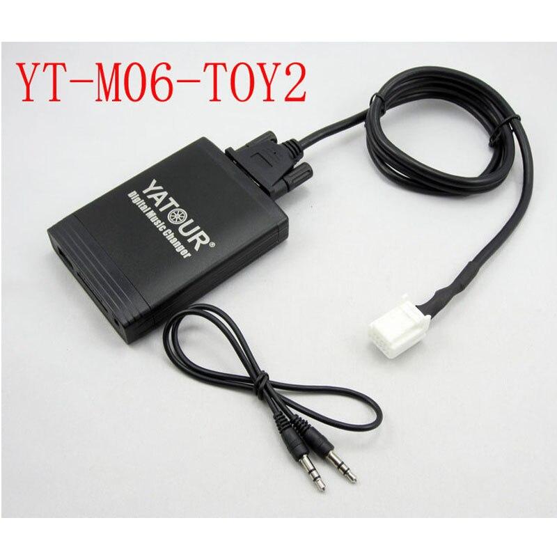 Yatour para Toyota Lexus Scion 2003-2013 estéreo USB para automóvil SD MP3 Bluetooth adaptador es de 220 GS 300 GX 470 LS 460 LX 570 RX 300 SC430