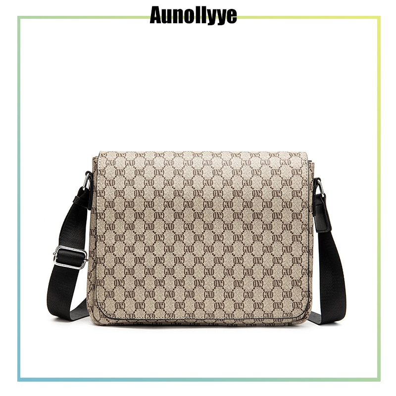 Men'S Leather Shoulder Bag Luxury Brand Business Travel Waterproof Retro Cross-Body Bag Messenger Bag Small Square Bag For Ipad
