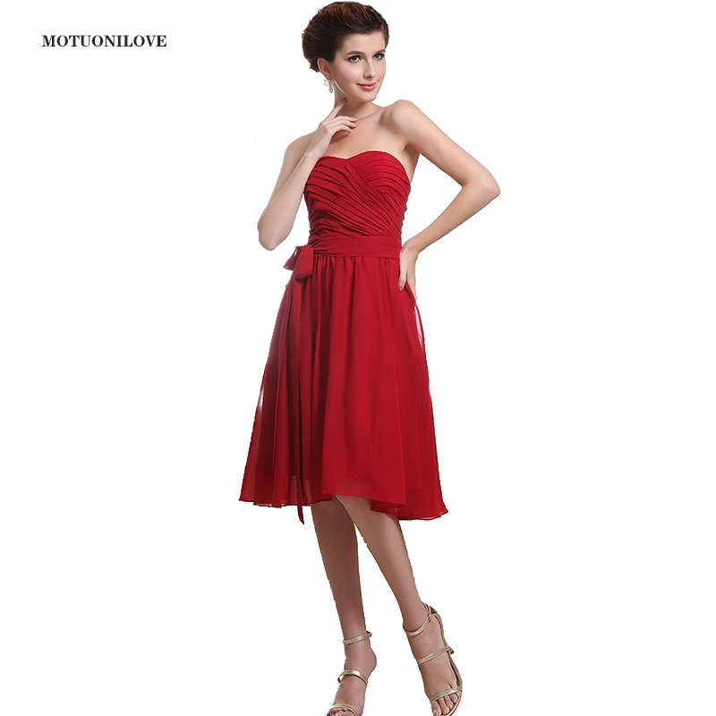 maid of honor dresses for weddings bridesmaid party dresses for women long prom dress graduation dresses back of bandage a line Princess Sweetheart Vintage Short Bridesmaid Dresses For Women Guest Party Dress Knee Length Maid of Honor Dresses for Weddings