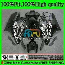 Injection Body For HONDA CBR 1000RR CBR1000RR 04 05 110BS.21 1000CC CBR1000 RR CBR 1000 CC RR 2004 2005 OEM Black silver Fairing
