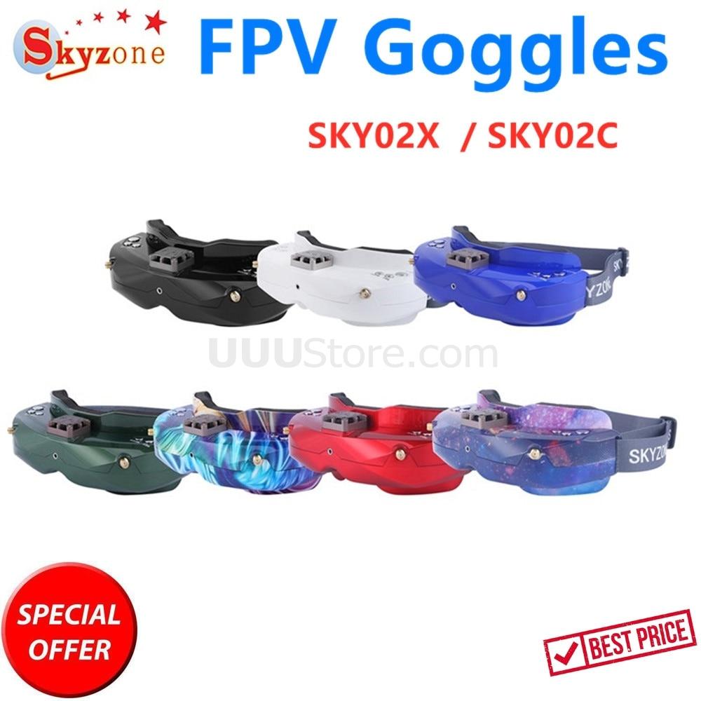 SKYZONE SKY02X / SKY02C 5.8Ghz 48CH Diversity FPV Goggles Support DVR 2D/3D HD Port AV IN For RC Racing Drone
