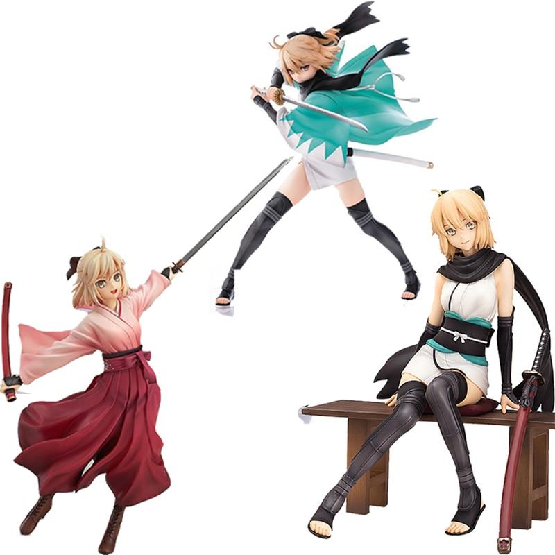 Fate/Grand Order Saber Okita Souji Servant chicas Sexy PVC figura de acción juguete Anime japonés muñeca coleccionable en miniatura regalos