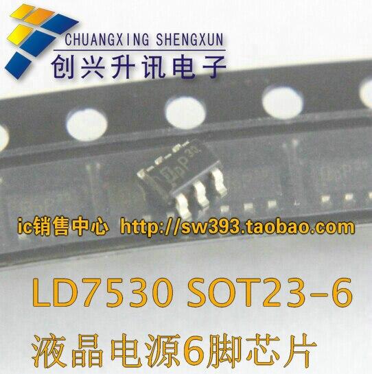 Livraison gratuite. LD7530PL LD7530 ecran 30 LCD puissance 6 pieds puce SOT23-6