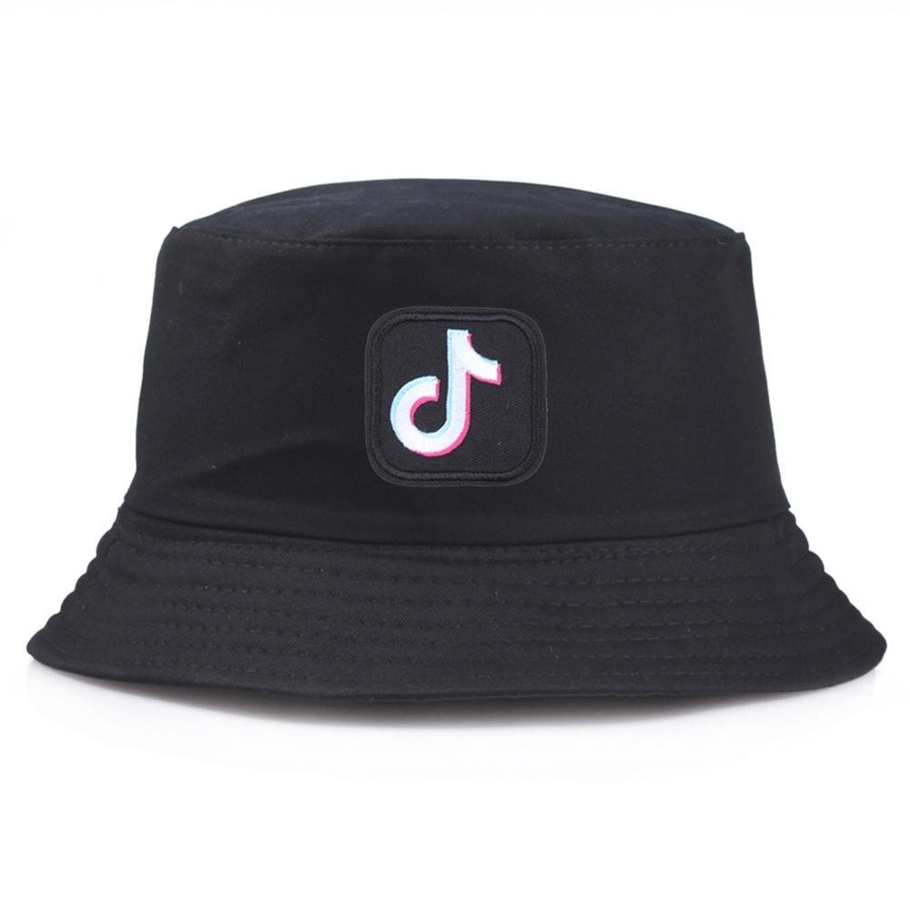 Outdoor Korean  Men Women Bucket Cap Musical Note Embroidered Folding Fisherman Hat sunshade basin Hat