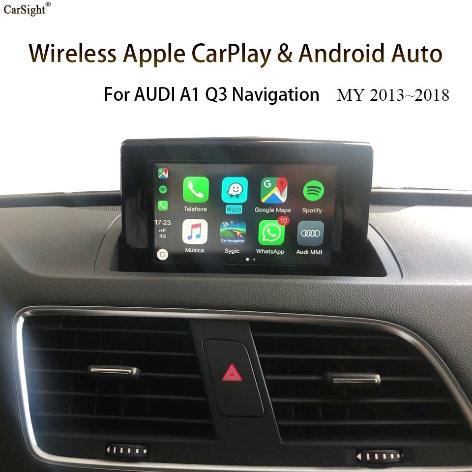Promo Wireless Apple CarPlay For AUDI Q3 A1 With RMC / 3G MMI  Support Car Play Android Auto Mirror Link Front Reverse Camera Adapter