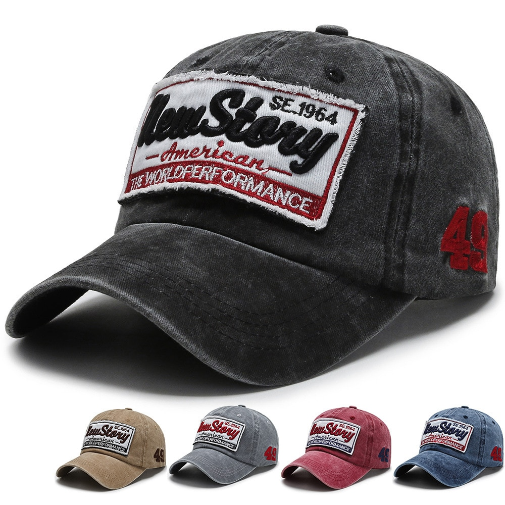 2021 New Unisex Baseball Cap Pure Cotton Casual Embroidered Cowboy Letter Hat Fashion