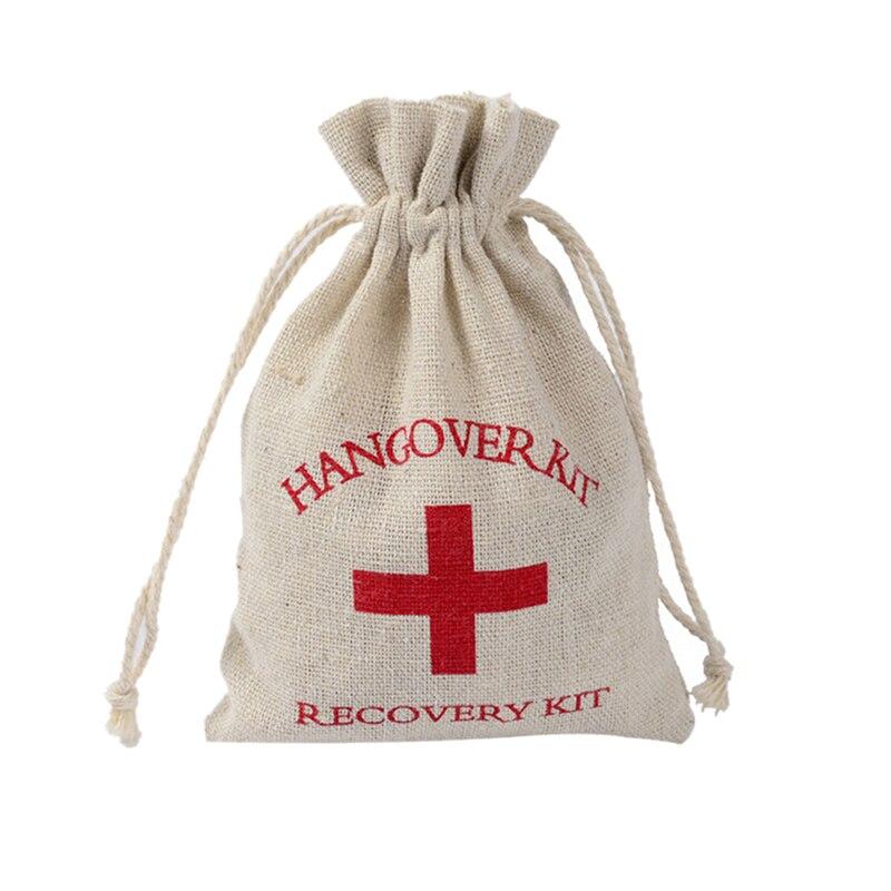 2 adet Hangover kiti düğün hediyelik eşya tutucu çanta pamuk hediye ilk yardım hediye keseleri parti iyilik bir tatil için el yapımı