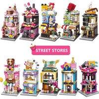 Блоки «Город друзей», игрушки для девочек и мальчиков, уличные магазины, блокировка, строительные блоки для детей, игра «сделай сам», совмес...