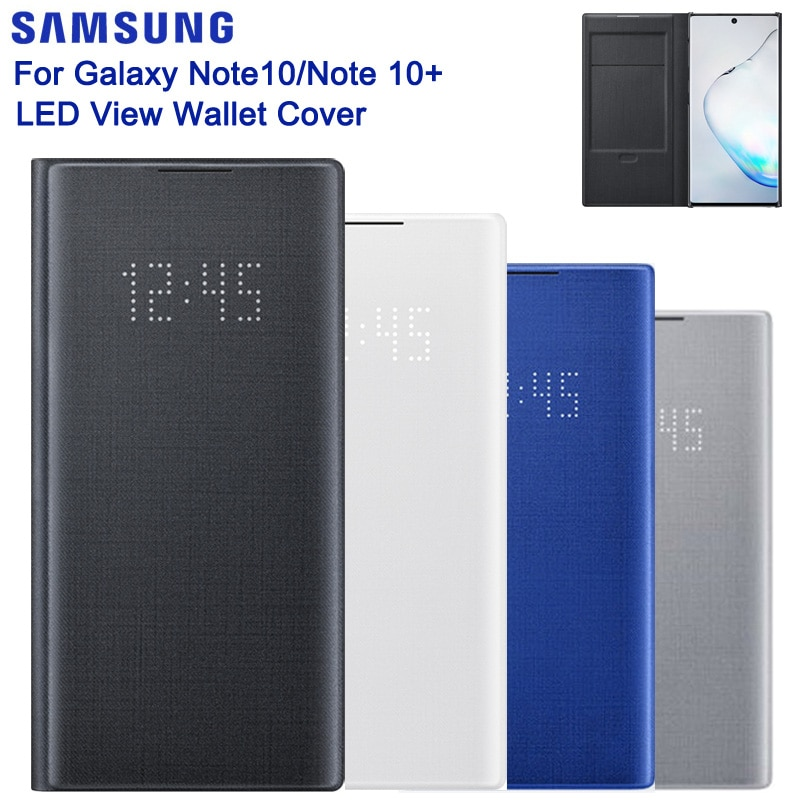 غطاء الهاتف الذكي الأصلي Samsung ، غطاء الهاتف الذكي SAMSUNG GALAXY Note 10 5G Note 10 Plus ، حافظة رفرف رفيعة