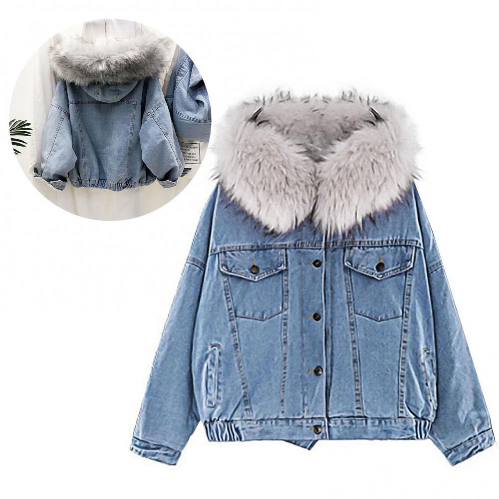 40% Прямая поставка! Женская куртка с капюшоном из искусственного меха, теплое пальто на подкладке, зимняя Осенняя плотная модная верхняя оде...
